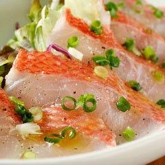 千葉館山直送!鮮魚のカルパッチョ
