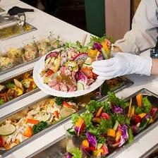 健農家の直送野菜ビュッフェ