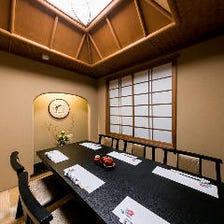 おもてなしに最適な純和風の完全個室