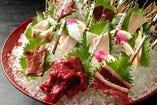 ■桜刺身8品盛り