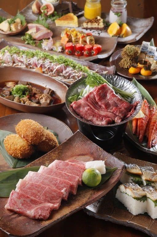 自慢の「肉料理」を堪能できる「肉会席」コース。