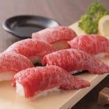 【コスパ◎】4種の炙り肉寿司食べ放題プラン【1990円→990円】