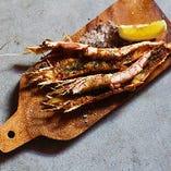 赤海老のガーリックオーブン焼き