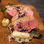 和風の味に仕上げた鴨肉も美味しいですよ