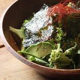 香る葉野菜とアボカドのチョレギサラダ