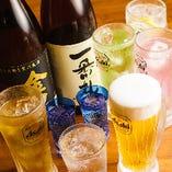 ビール、日本酒、ワイン…など約30種が2時間飲み放題!(L.O.20分前)