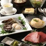 【ペア】神戸牛ステーキ&あわびを含む海鮮『Bコース』