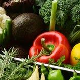 地元農家直送野菜や馴染みの肉屋など、質を追求した素材のみ使用