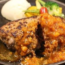 肉汁が溢れるハンバーグ