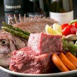 国産和牛や鮮魚、フォアグラなど厳選した食材を使用