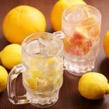 ごろごろレモンサワー&ごろごろグレープフルーツサワー