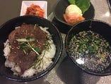 二段和牛ロース丼定食