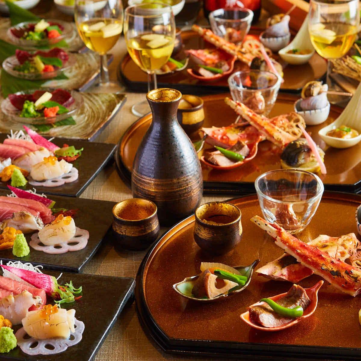 厳選した三陸の食材を使用した絶品料理の数々。