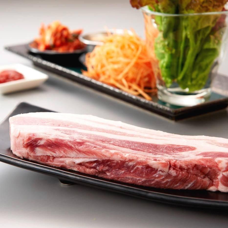 韓国式焼き肉のサムギョプサル