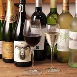 ボトルワインも各種取り揃えております