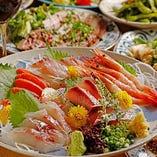 本日の鮮魚をカルパッチョまたはお刺身で!「アドバンスコース」