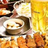 こだわりの牛串とサッポロ生ビールの組み合わせは抜群☆