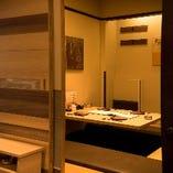 落ち着いた上質な完全個室/団体予約も個室でご用意致します