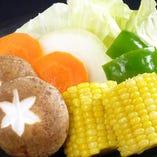 焼野菜も各種ご用意しています