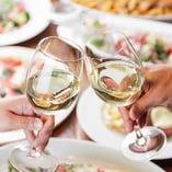 各種ご宴会に最適なコースで乾杯。ここに残る最高の時間を当店でお過ごしください