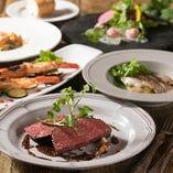 お肉もお魚もしっかり楽しめるディナーコース