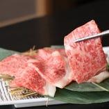 【霜降り上ロース】お肉の旨みと甘みが口いっぱいに広がる逸品