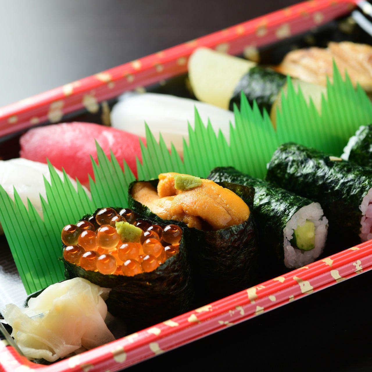 旬魚を使った本格寿司をご自宅で堪能