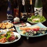 《90分飲み放題付》【宴会贅沢寿司コース】全8品/5,000円