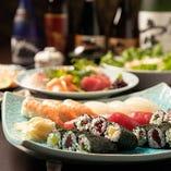 寿司:《90分飲み放題付》【宴会贅沢寿司コース】全8品/5,000円