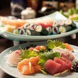 刺身:《90分飲み放題付》【宴会贅沢寿司コース】全8品/5,000円