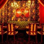 最大25名様までご利用可能なカーテン付個室