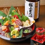 鮮度抜群のお造りは、季節の日本酒と相性抜群
