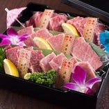 ■仙台黒毛和牛の5種盛りで食べ比べ♪