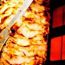 人気!『媛っ子地鶏』のドネルケバブ