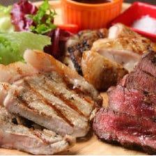 名物【肉料理盛り合わせ】三種