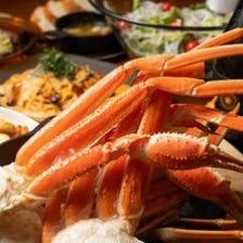 【ロブスター】×【蟹&肉】×【選べるデザート】約80種3H[飲放]12品4500円★10名様~貸切可