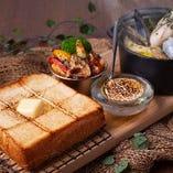 大好評につき継続延長!高級食パンを使用したランチプレート