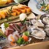広島の美味い魚と地酒を楽しめるコース料理は会食にも最適