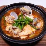 海鮮豆腐煮(味噌チゲ風)