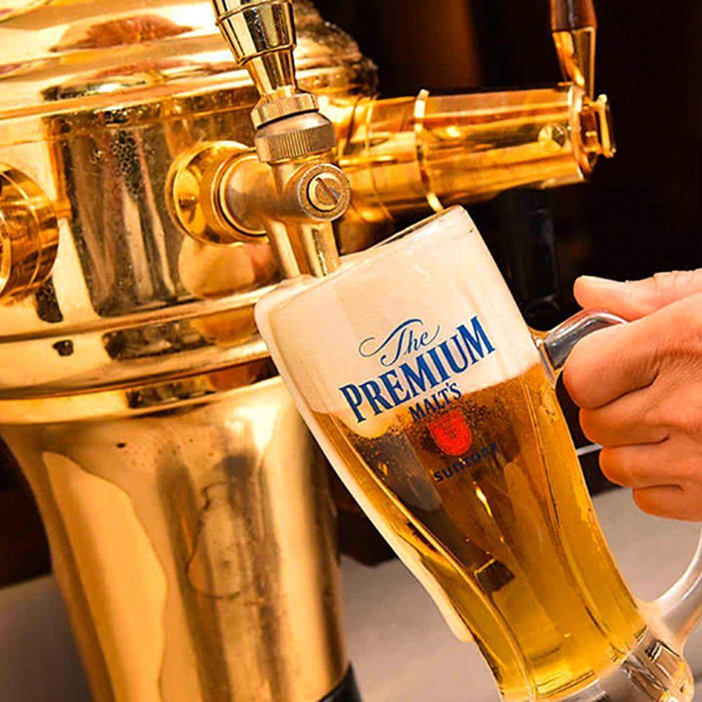 キンキンに冷えたビールで まずは乾杯を!