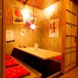 【掘りごたつ個室】ゆったりくつろげる掘りごたつ完全個室席!
