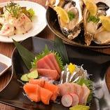 鮮度バツグンの魚介料理もご用意しております。