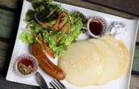 ドイツ産ソーセージとお食事パンケーキ