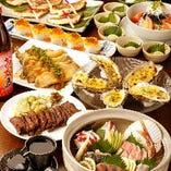飲み放題付き宴会コースは3900円~!+500円でグレードアップ可能