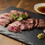 牧草牛の「ハラミ」赤身で濃厚な味わい 1080円