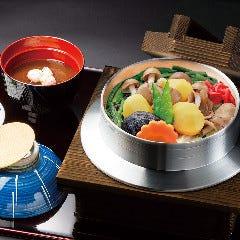 山菜と栗釜めし盆