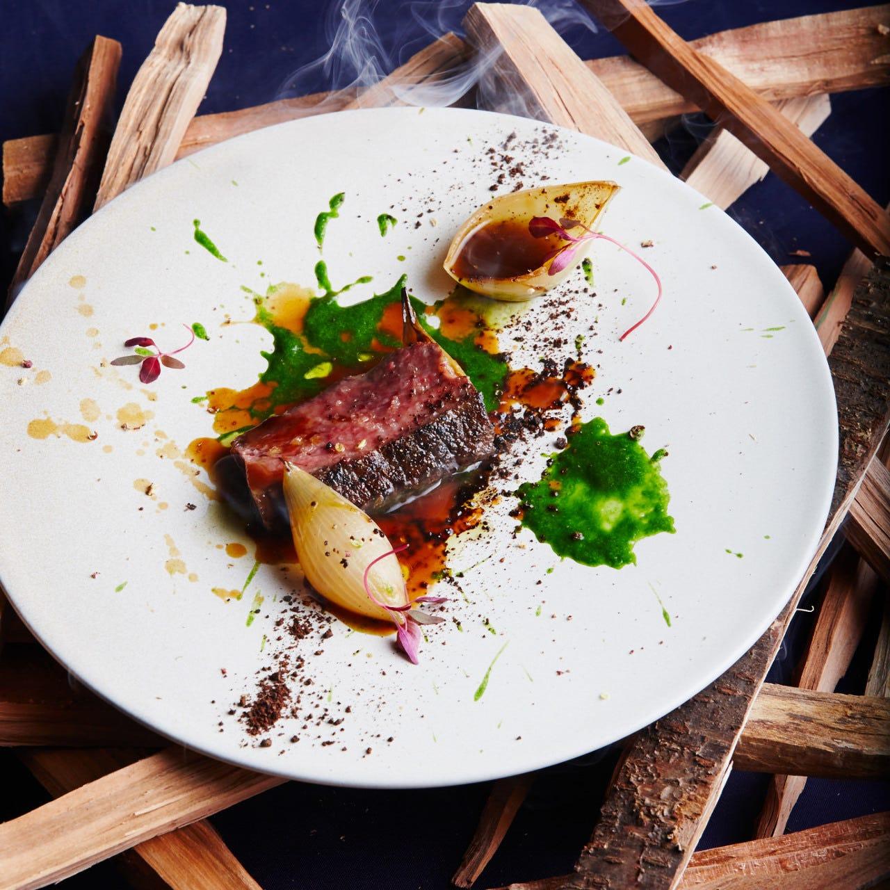 ◆薪焼きの牛肉