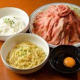 牛タンしゃぶしゃぶの〆の雑炊・麺セット。選べます!