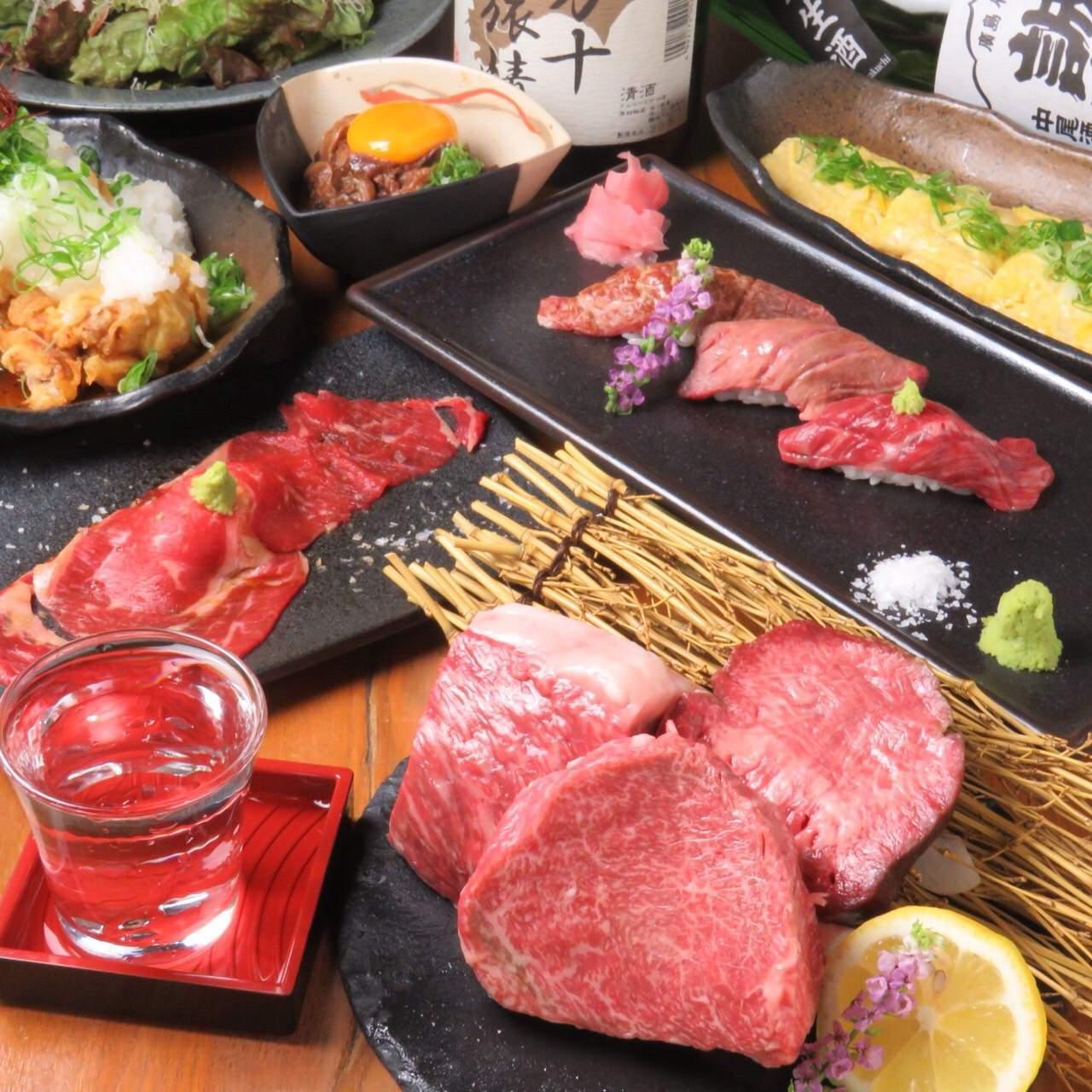 国産牛×肉寿司のコース