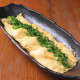 「鉄板だし巻き卵」ふわふわの卵はだし醤油で優しい味付けに